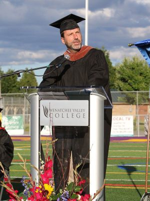 Derek Sheffield at Wenatchee Valley College graduation